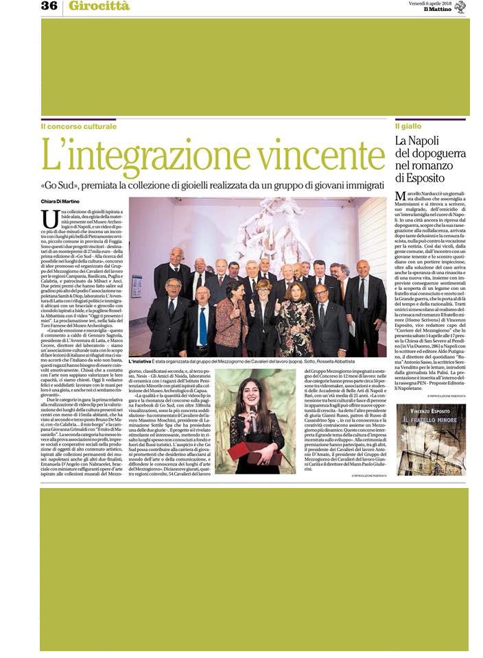 Premio Go Sud Il Mattino - Avventura di latta
